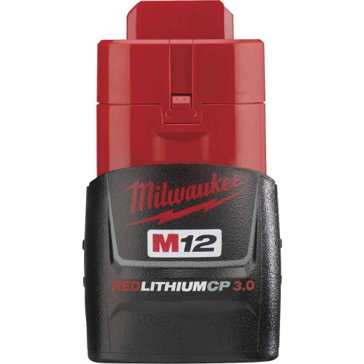 Milwaukee M12 REDLITHIUM 12 Volt Lithium-Ion 3.0 Ah Compact Tool Battery
