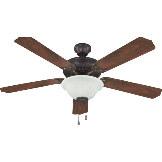 Home Impressions Crawford 52 In. Oil Rubbed Bronze Ceiling Fan with Light Kit