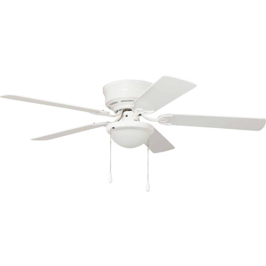 Home Impressions 52 In. White Ceiling Fan with Light Kit