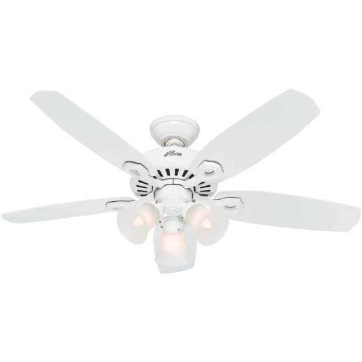 Hunter Builder 42 In. White Ceiling Fan with Light Kit