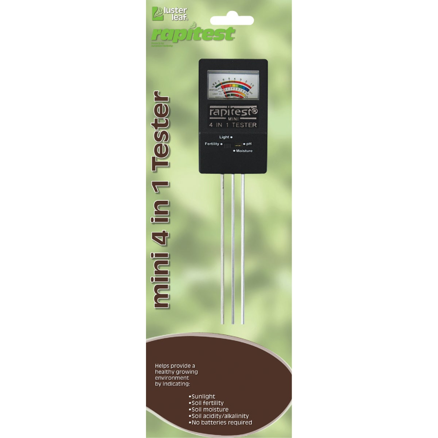 Rapitest Plastic 4-In-1 Mini Soil Tester Image 1