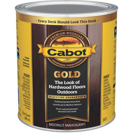 Cabot Gold Exterior Stain, Moonlit Mahagany, 1 Qt.