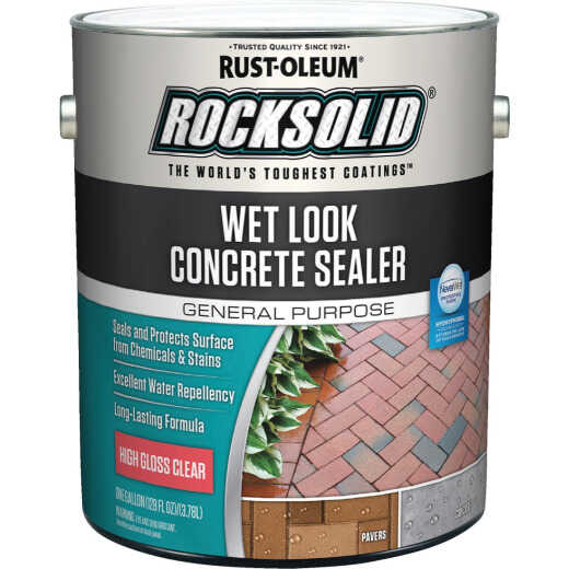 Rust-Oleum RockSolid Wet Look Concrete Sealer, 1 Gal., Clear