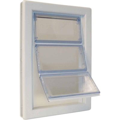 Ideal Airseal 10-1/4 In. x 15-3/4 In. Extra Large Plastic White Pet Door